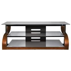 "65"" TV Stand with Wood & Black Glass Espresso CW342 Image"