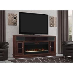"ANTIQUE BROWN CHERRY 70"" w/ Fireplace Spectrafire  42MMS90151-PC84 Image"