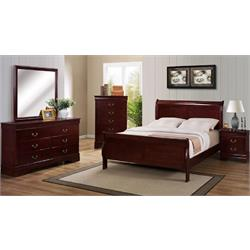 Louis Philip Cherry- Headboard and Footboard  B3800-QN-BED Image