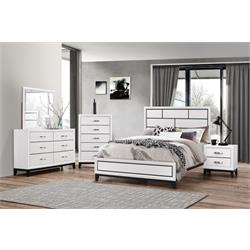 Queen Akerson Chalk- Headboard and Footboard  B4610-QN-BED Image