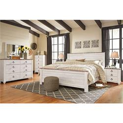 QN Bed includes:Dresser 1 NS & Brown PanelLinen B267-31-91-HB Image